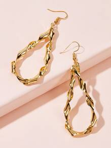 Twisted Waterdrop Earrings 1pair