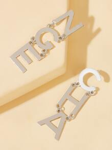 Letter Drop Earrings 1pair