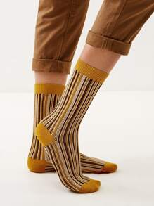 Striped Knit Socks 1pair