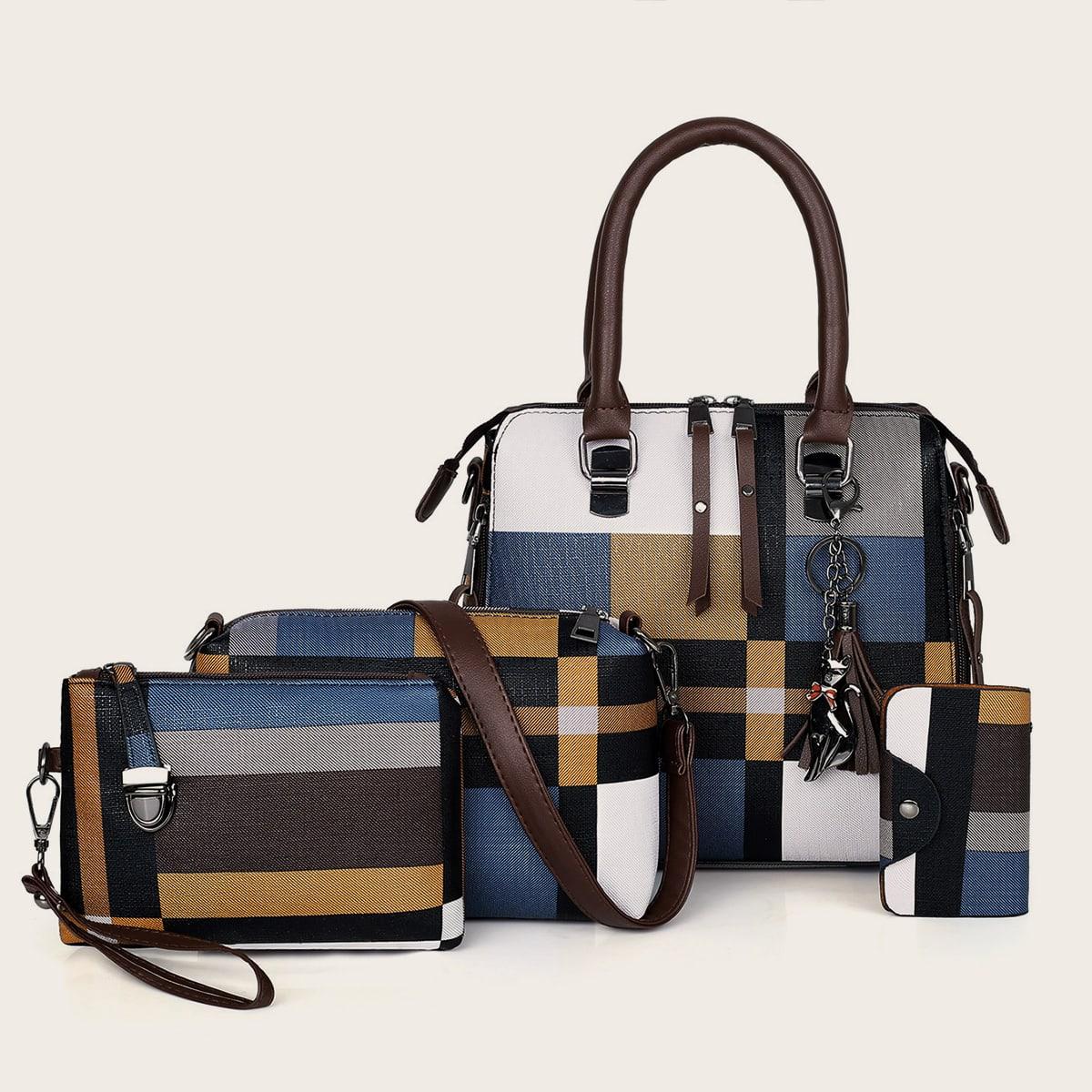 многоцветный Контрастный цвет Повседневный Набор сумок SheIn swbag03190912488