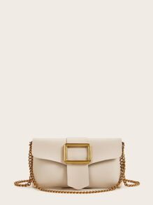Metal Decor Chain Crossbody Bag