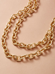 Layered Chain Necklace 1pc