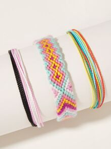 Colorful Braided String Bracelet 3pcs