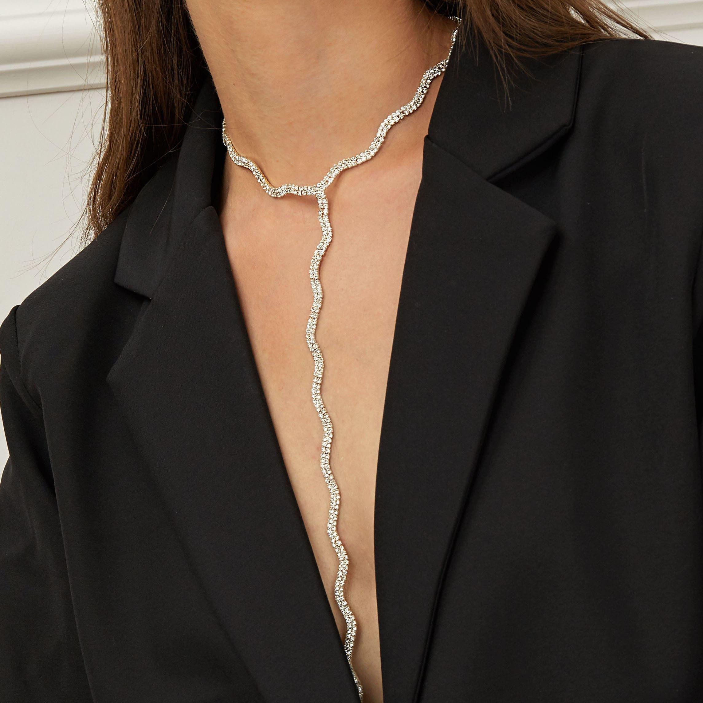 Lasso Halskette mit Strass Design 1 Stück
