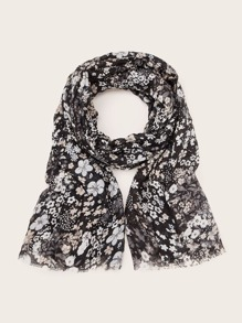 Ditsy Floral Pattern Scarf