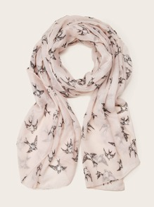 Sparrow Pattern Scarf