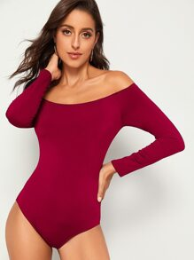 Off The Shoulder Skinny Bodysuit