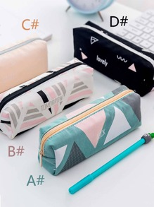 Geometric Pattern Pencil Bag 1pc