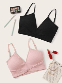 Rib Bra Set 2pack