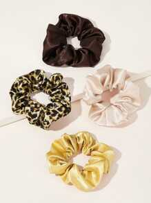 Leopard Pattern Scrunchie 4pcs
