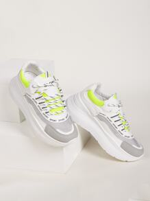 Lace-up Front Chunky Sole Sneakers