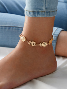Pineapple Design Chain Anklet 1pc