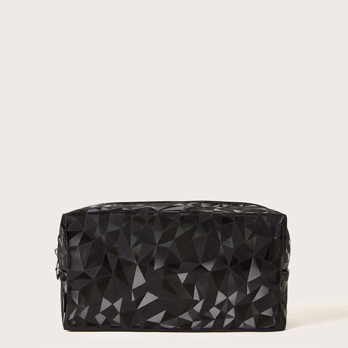 Косметическая сумка с геометрическим принтом