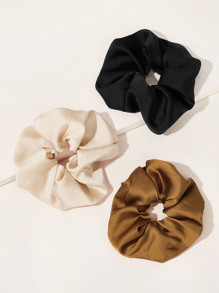 Simple Satin Scrunchie 3pcs