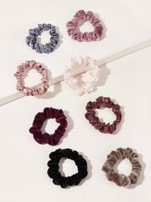 Simple Satin & Velvet Scrunchie 8pcs
