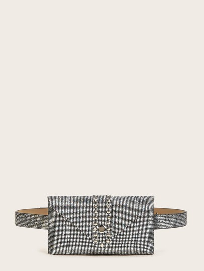 Rhinestone Decor Fanny Pack