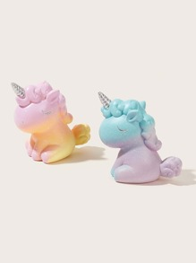 1pc Cartoon Unicorn Decorative Object