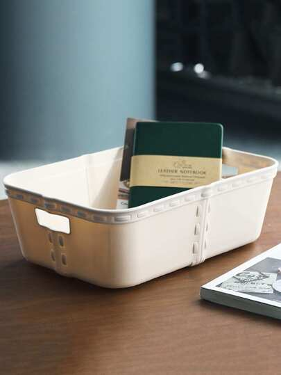 1pc Desktop Plastic Storage Basket