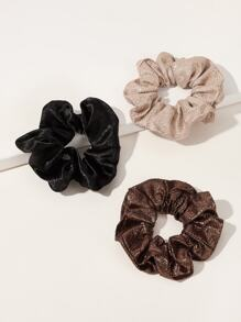 3pcs Simple Satin Scrunchie