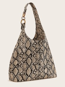 Snakeskin Print Shoulder Bag