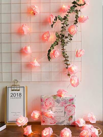 10pcs Flower Shaped Bulb String Light