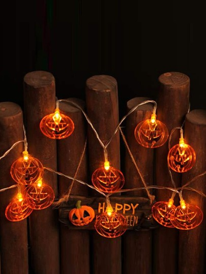 10pcs Halloween Pumpkin Shaped Bulb String Light