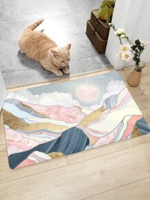 Mountain & Sun Print Floor Mat
