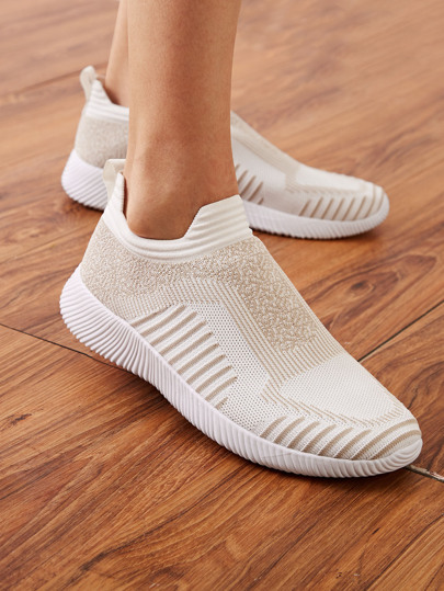 Slip On Knit Sneakers