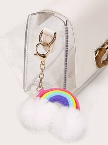Rainbow & Pom Pom Bag Accessory