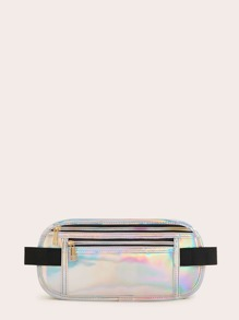 Flat Holographic Fanny Pack