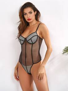 Fishnet Sheer Teddy Bodysuit