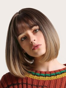 Short Bob Wig With Bangs