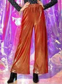 Sparkly Glitter Wide Leg Pants