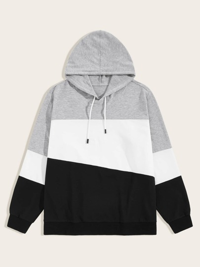 Guys Cut And Sew Drawstring Hoodie