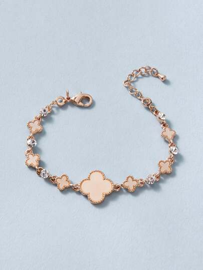 1pc Clover Decor Chain Bracelet