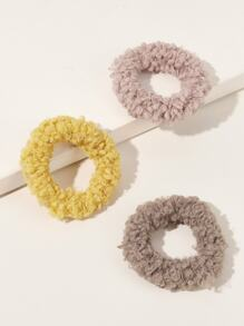 3pcs Fluffy Scrunchies