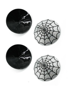 2pairs Spider Web Pattern Nipple Cover