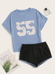 Number Print PJ Set