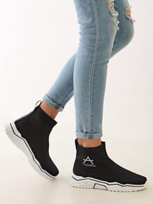 Letter Graphic Chunky Sole Sneakers