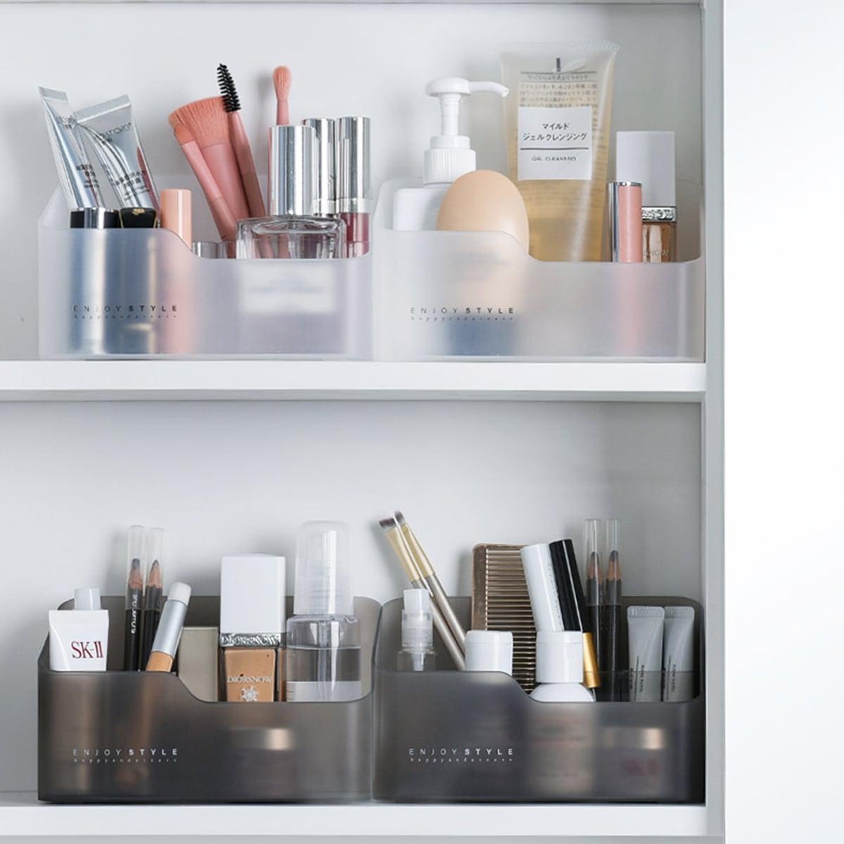 1pc transluzente kosmetische Aufbewahrungsbox