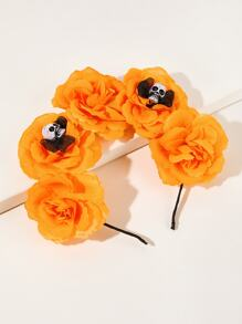 Skull & Flower Decor Headband