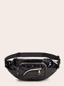 Zip Front PU Fanny Pack