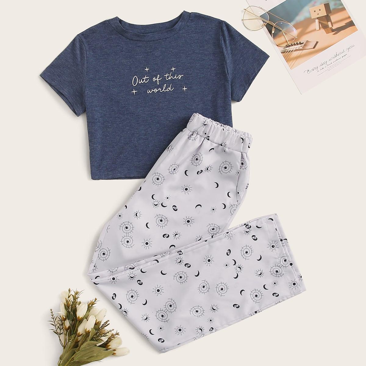 Пижама с графическим принтом