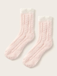Simple Fluffy Socks 1pair