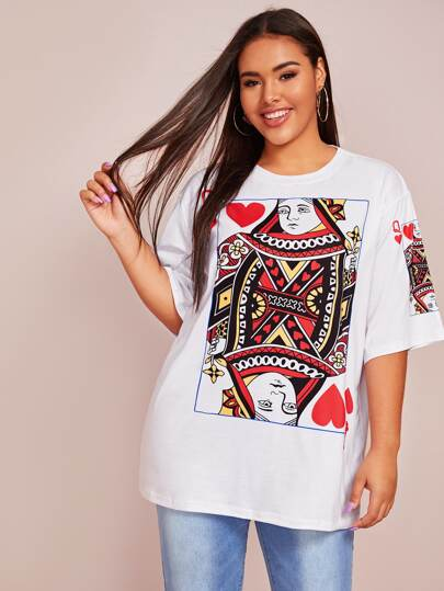 Plus Graphic Print Oversized Tee