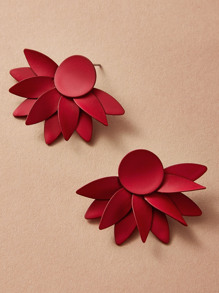 1pair Flower Drop Earrings