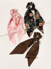 3pcs Graphic Scrunchie Scarf
