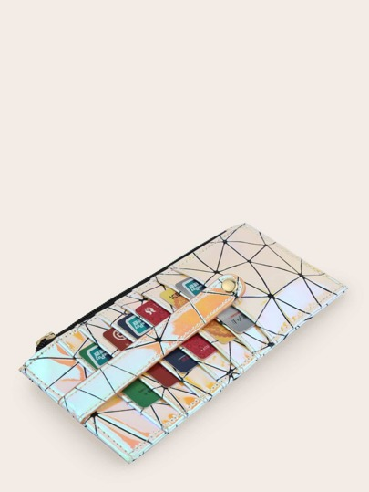 Geometric Graphic Purse With Card Holder
