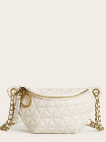 Quilted Zip Front Fanny Pack