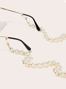 Faux Pearl Beaded Glass Chain